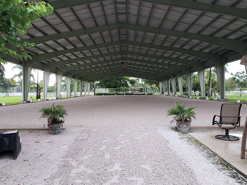 Covered riding arenas